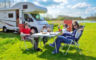 Kinderen en een camper