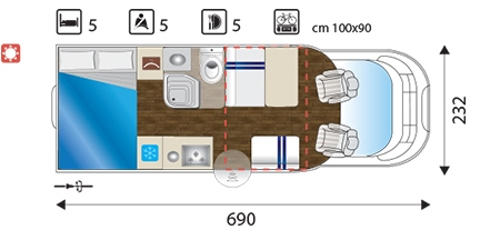 Occasion Sun Driver T 550 layout