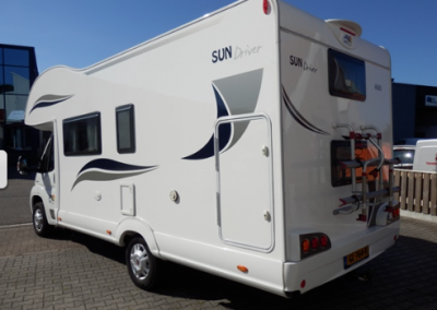 Left side Sun Driver A690 Motorhome for 7 persons with bunkbed, big garage and very spacy