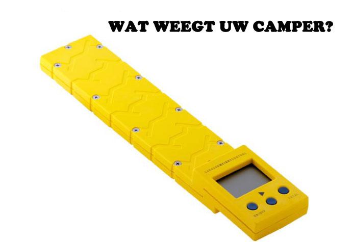 Wat weegt uw camper